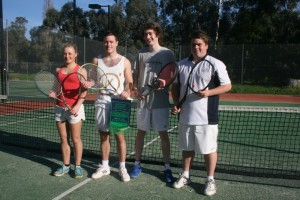 ERT Winter OS6 Premiership team. Players from left to right are, Caitlyn Wingett, Chris Mawson, Tom Nolan and Robert Cameron. Absent - Matthew Gillett.